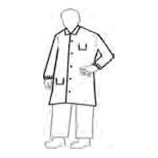 ProShield® NexGen™ White Full-Cut Lab Coat With 5-Snaps 2-Pockets And Collar