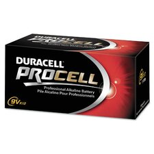 Procell Alkaline Battery, 9-Volt, 12-Pack