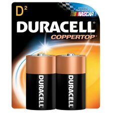 <strong>Duracell</strong> D Cell Long Lasting Power Alkaline Battery (Set of 2)