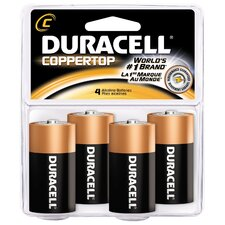 C Cell Coppertop Alkaline Battery (Set of 4)