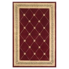 Ruby Ruby/Gold Trellis Area Rug