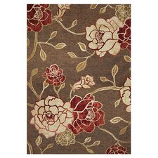 Horizon Mocha Flora Indoor/Outdoor Rug
