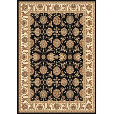 Kashan Cambridge Black/Ivory Rug
