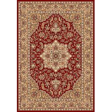 <strong>KAS Oriental Rugs</strong> Kashan Cambridge Red/Beige Medallion Rug