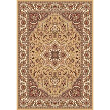 Kashan Cambridge Beige/Ivory Medallion Rug