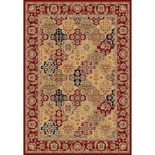 Cambridge Red / Beige Floral Areal Rug