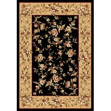<strong>KAS Oriental Rugs</strong> Cambridge Black/Beige Floral Delight Rug