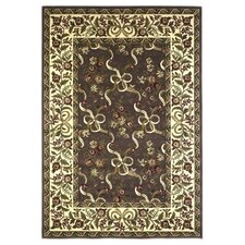 Cambridge Plum/Ivory Floral Ribbons Rug
