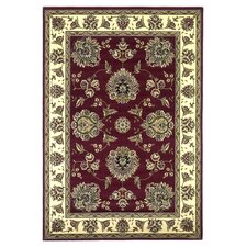 Cambridge Red / Ivory Floral Area Rug