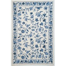 Colonial Ivory & Blue Floral Rug