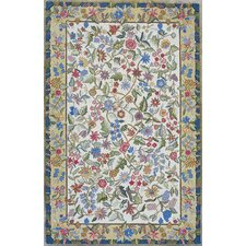 Colonial Ivory/Gold Floral Tapestry Rug