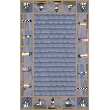 <strong>KAS Oriental Rugs</strong> Colonial Lighthouse Nautical Novelty Rug