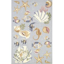 <strong>KAS Oriental Rugs</strong> Colonial Blue Nautical Novelty Rug