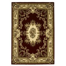 Corinthian Aubusson Red & Ivory Rug