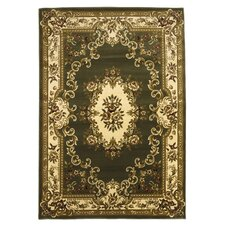 Corinthian Green/Ivory Aubusson Rug