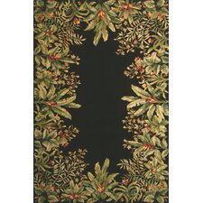 <strong>KAS Oriental Rugs</strong> Emerald Black Tropical Border Rug