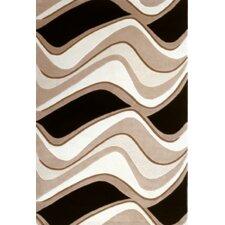 Eternity Black/Beige Waves Area Rug