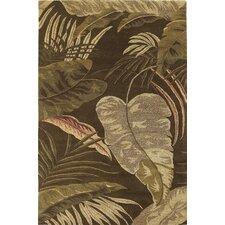 Havana Mocha Rainforest Floral Area Rug