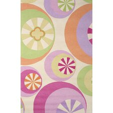 <strong>KAS Oriental Rugs</strong> Kidding Around Pastel Peppermints Kids Rug