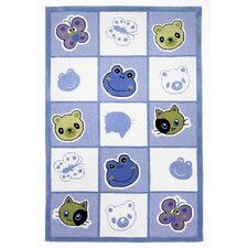 Kolorful Kidz Checkerboard Friends Kids Rug