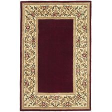 Ruby Floral Bordered Area Rug