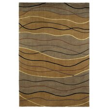 Signature Earthtone Waves Area Rug