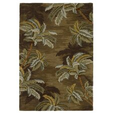 Sparta Palm Trees Moss Area Rug