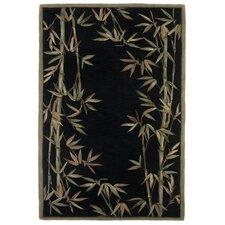 Sparta Black Bamboo Border Area Rug