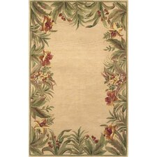 Sparta Beige Rainforest Floral Area Rug