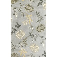 Florence Silver Floral Area Rug