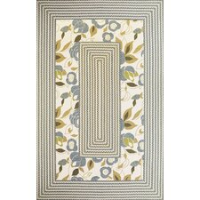Fairfax Ivory/Blue Floral Indoor/Outdoor Area Rug