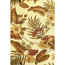 Lifestyles Ivory Tropical Rug