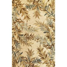 Sparta Ivory Tropical Branches Area Rug