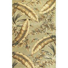 Sparta Pale Green Ferns Rug
