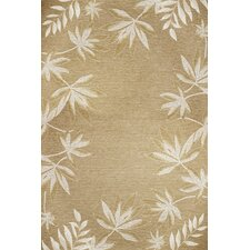 Horizon Sage Fern Border Indoor/Outdoor Rug