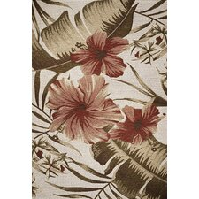 Horizon Ivory Hibiscus Indoor/Outdoor Rug