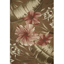 Horizon Mocha Hibiscus Indoor/Outdoor Rug