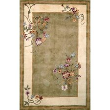 Ruby Sage Bouquet Area Rug