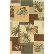 Sparta Earthtone Foliage Views Area Rug