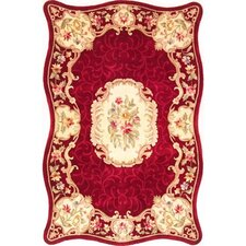 Providence Ruby Floral Court Area Rug