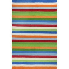Kidding Around Cool Stripes Rug