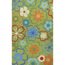 Sonesta Green Floral Splash Area Rug