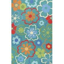 Sonesta Blue Floral Splash Area Rug