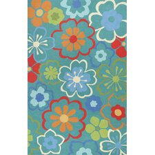 Sonesta Blue Floral Splash Rug