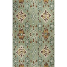 Anise Seafoam Allover Green Ikat Area Rug