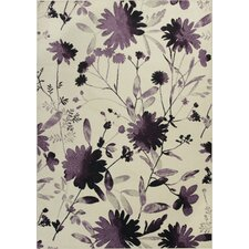 Reflections Purple Watercolors Rug