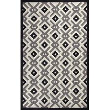 Solstice Black/White Diamonds Area Rug