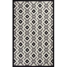 <strong>KAS Oriental Rugs</strong> Solstice Black / White Diamonds Rug