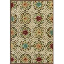 Meridian Ivory Mosaic Outdoor Rug