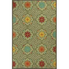 Meridian Green Mosaic Outdoor Rug